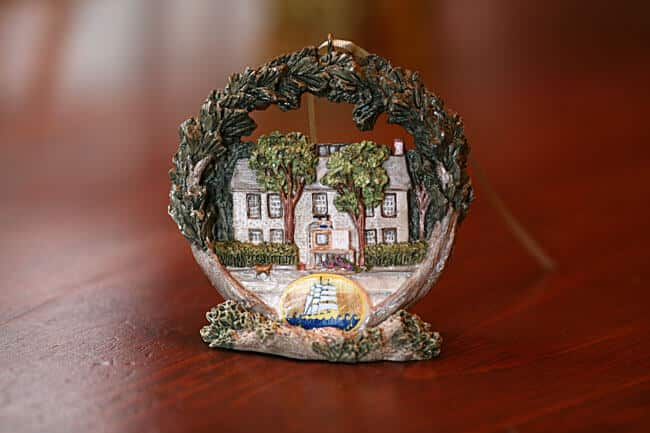 Ornament of Seven Sea Street Inn with a stand
